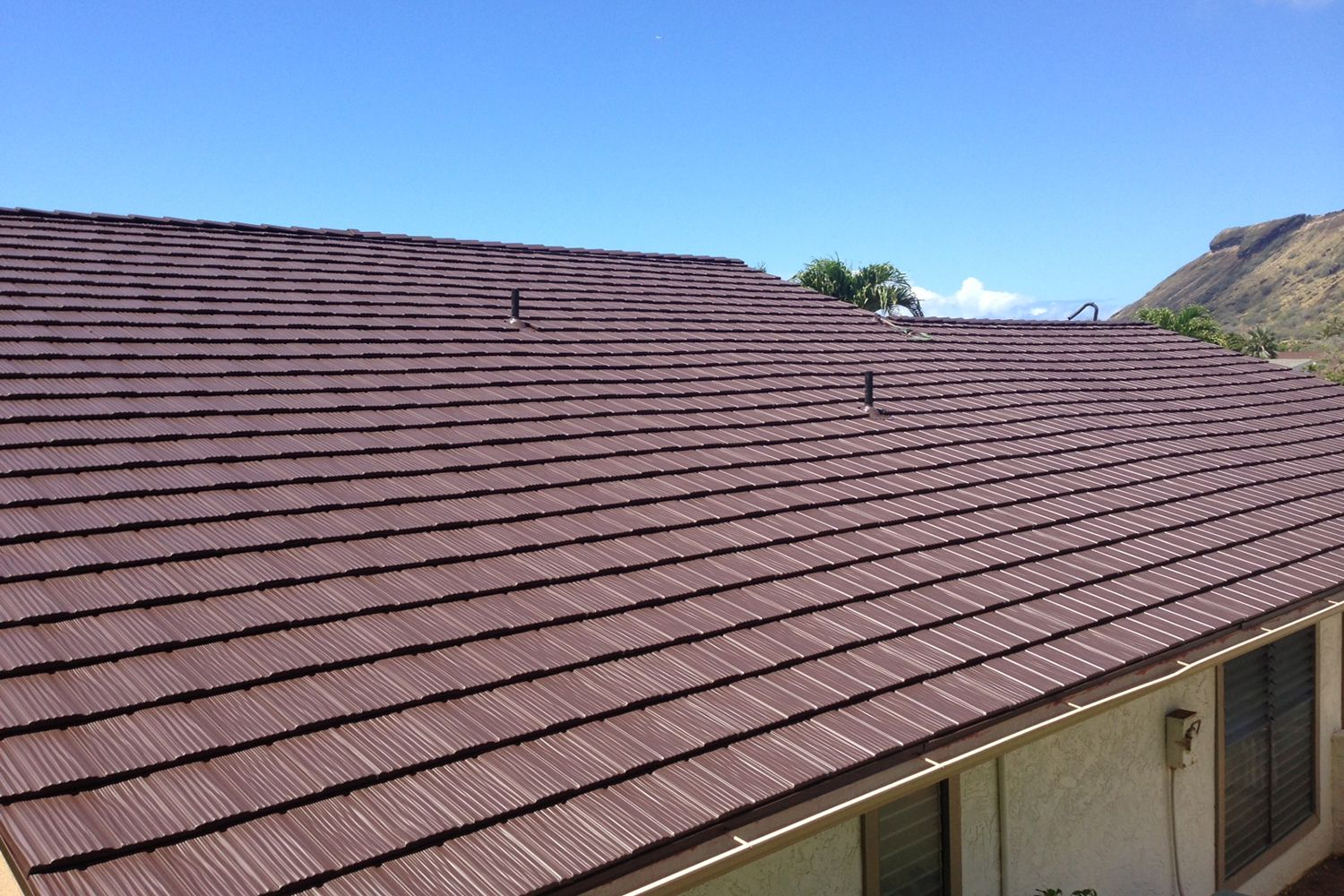 tudor brown metal shake roof hawaii