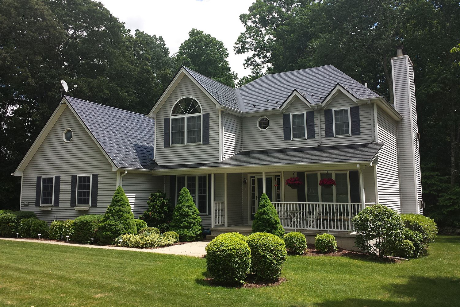 black metal slate roof hip valley dormers