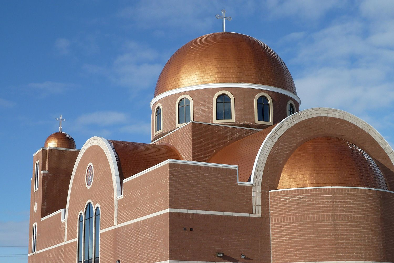 copper roof greek orthodox church