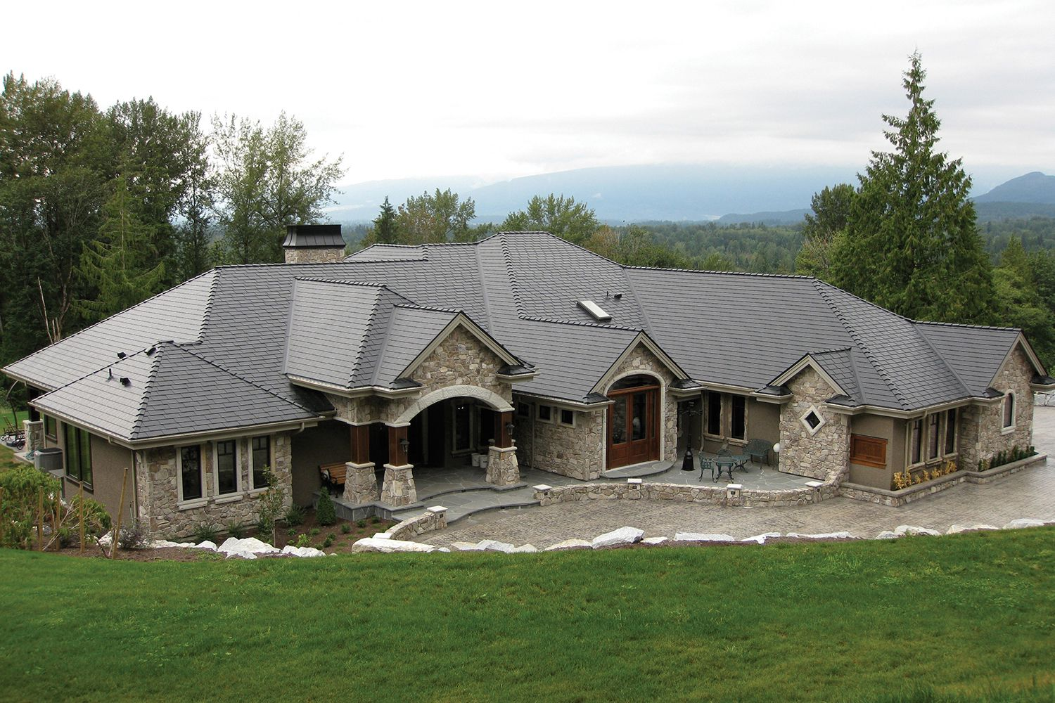 weathered metal slate roof hip valley roof