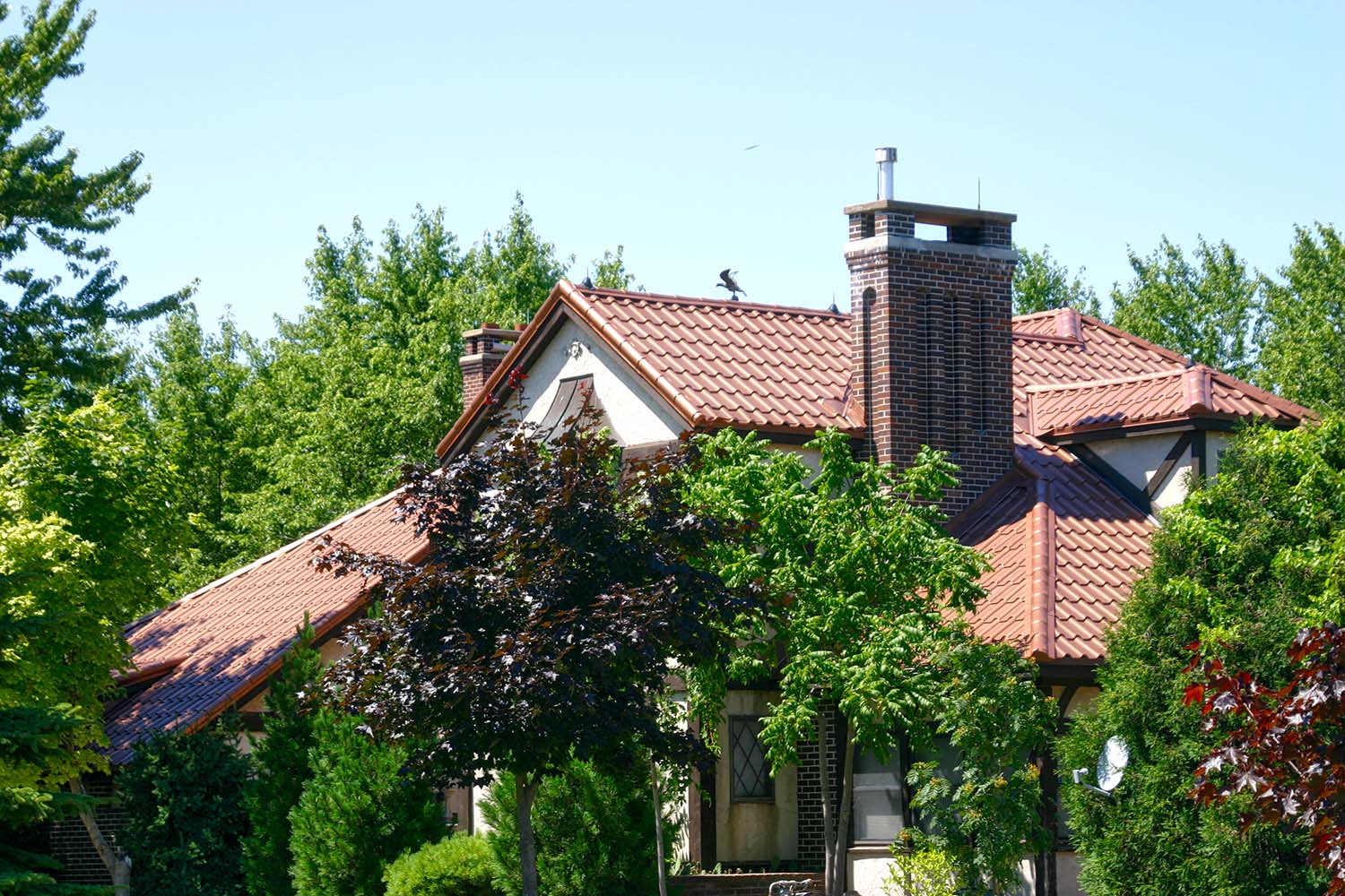 aged copper metal mediterranean tile roof midwest-2