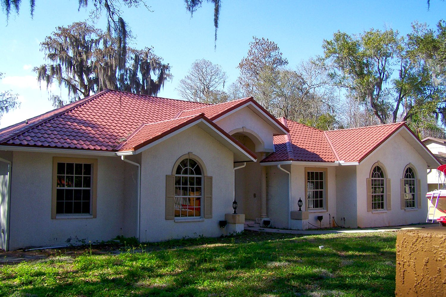 tile red metal mediterranean tile roof florida hip valley