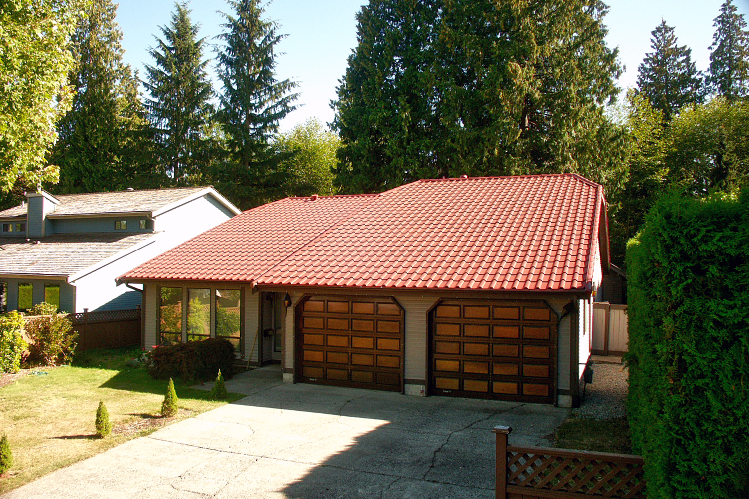 tile red metal mediterranean tile roof shed roof
